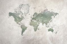 Against a rougher background and in courser paper, all the world's countries shine in the clear colours of the rainbow. This world map mural was created in 2010 and the countries are tightly, tightly listed – as befit a school atlas. World Map Mural, World Map Wallpaper, Wallpaper Online, Village Photos, Map Globe, Wall Maps, Wall Mural, Beautiful Wall, Rainbow Colors