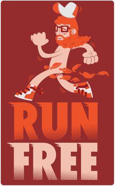 :: Run Free :: by Gabo Galicia / Mr Lemonade , via Behance