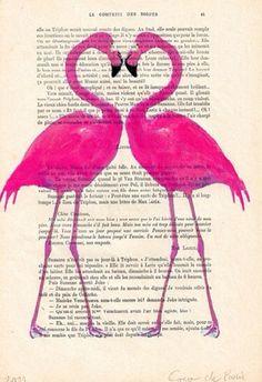 Flamingos on page