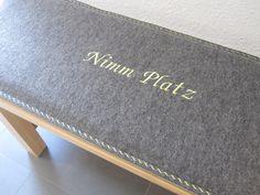 Kissen - Filz Bankauflage aus Wollfilz nach Maß! Zierstich! - ein Designerstück von ChristianePetscha bei DaWanda