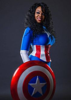 Female captain america cosplay by akiko jenn photo by jeff Zoet visuals Cosplay Marvel, Epic Cosplay, Cosplay Outfits, Cosplay Girls, Cosplay Costumes, Black Cosplayers, Female Comic Characters, Captain America Cosplay, Dc Comics
