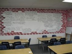 """inexpensive wall decor for high school classroom 