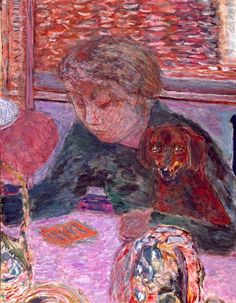 Woman with a Dog - Pierre Bonnard