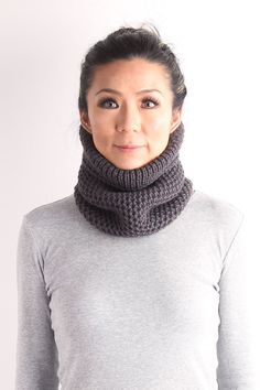 Neck warmer knitted neckwarmer knit cow chunky knit by VONANA