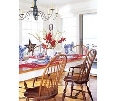 Dining with Patriotic Flair - Home and Garden Design Idea's
