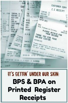 There's more BPA in a single thermal paper receipt than the total amount that would leach out from a polycarbonate water bottle used for many years. What Happens When You, What You Can Do, Genetic Abnormalities, Passing Gas, Green Chemistry, Endocrine Disruptors, Wellness Activities, Conscious Parenting, Thyroid Hormone