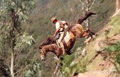 ~ The Man from Snowy River, Part 1. One of my favorite scene with some heavy duty riding by Tom Burlinson. None of the riders in this scene could run down a cliff like he could (the mountains ain't for sissies!). Tom Burlinson showed what he's made of; he did his own stunts in this scene. Amazing horsemanship. ~