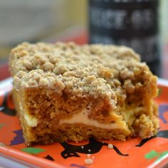 This Pumpkin Cream Cheese Crumb Cake is the perfect fall treat. The scrumptious moist pumpkin cake has a lightly sweetened thin layer of cream cheese and a luscious crumb topping. It stays moist for (Bake Goods Desserts) 13 Desserts, Delicious Desserts, Dessert Recipes, Yummy Food, Zucchini Desserts, Dessert Ideas, Brunch Recipes, Cookie Recipes, Cream Cheese Filling