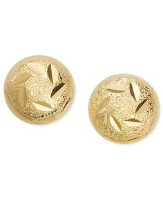Giani Bernini 24k Gold over Sterling Silver Earrings, Decorated Ball Stud