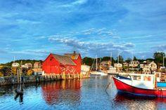 Bradley Wharf in the harbor town of Rockport, Massachusetts