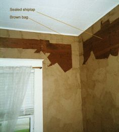 Brown paper bags torn and crumpled then wallpaper pasted to the wall once dry stained slightly - Brown paper bag walls ...