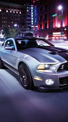 Ford Mustang Night Street Car Wallpaper
