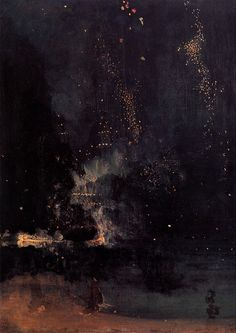 James Abbott McNeill Whistler,Nocturne in Black and Gold – The Falling Rocket, 1874