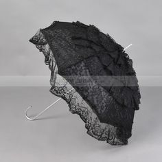 Black Ruffled Lace Wedding Umbrella