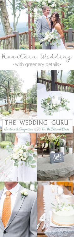 Mountain wedding with greenery details in Columbus North Carolina. Photos by Christa Rene Photography. #mountainwedding #greenery