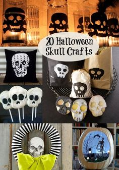 20 Spooky Halloween Skeleton Crafts - these projects are great for kids or adults! Lots of easy ideas with supplies from the dollar store, too.