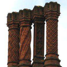 https://flic.kr/p/2smpY9 | Fancy brickwork on chimneys