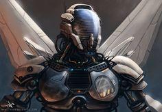 Futuristic, Robot, Future, thompson46.devian, cyborg, armor, mask, cyberpunk, sci-fi, helmet, military, futuristic, future warrior, science by FuturisticNews.com