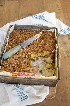 Allyson Gofton's sweetly spiced apple cake with a nutty streusel topping is easy…
