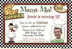 5 x 7 pizza invitation template free - Yahoo Image Search Results