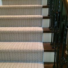 Natural Herringbone stair runner