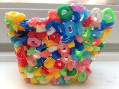 Bowl made with Hama beads / Perleskål laget av Hama perler. Hama Beads, Hama Bead