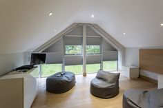 Blackout Duette Pleated Gable Blinds by Grand Design Blinds