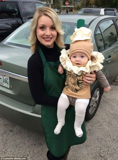 One woman thought outside of the box when she dressed as a Starbucks barista and kitted ou...