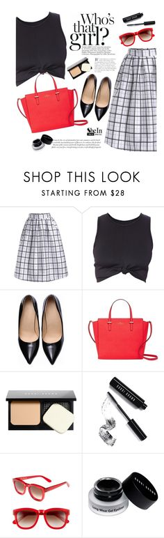 """""""Black & Red"""" by mada-malureanu ❤ liked on Polyvore featuring Kate Spade, Bobbi Brown Cosmetics, Wildfox, katespade, Sheinside and shein"""