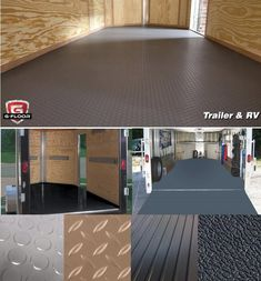 G Floor Seamless Trailer Floor Covering. Available in Coin, Diamond, Ribbed, Levant patterns. Made in USA! Work Trailer, Trailer Diy, Trailer Build, Utility Trailer, Trailer Remodel, Bike Trailer, Trailer Shelving, Trailer Storage, Trailer Organization