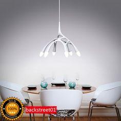 $280+130 New Modern 6 LED Octopus Design Chandelier Ceiling Light Pendant Lamp Lighting | eBay