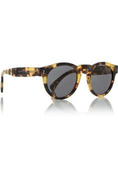 Illesteva|Leonard round-frame tortoiseshell sunglasses|NET-A-PORTER.COM