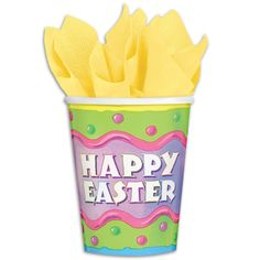 Happy Easter Cups - 9 Ounce, 8 Pack #Easter #Egg #Party #Promocodes