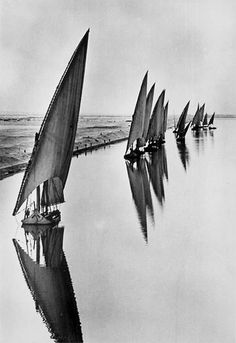 Alfred Eisenstaedt. Egyptian Fishing Boats. Suarez Canal near Port Said. 1935 [::SemAp FB || SemAp::]