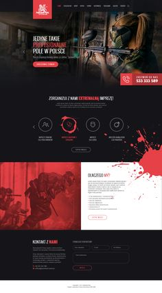 Web Design - Paintball Bydgoszcz - Real Time - Diet, Exercise, Fitness, Finance You for Healthy articles ideas Corporate Website Design, Web Design Websites, Website Design Layout, Web Layout, Layout Design, Design Logo, Web Ui Design, Pag Web, Website Design Inspiration