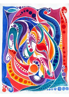 """Six/watercolor Greeting Card for Sale by Expressionistart studio Priscilla Batzell.  Our premium-stock greeting cards are 5"""" x 7"""" in size and can be personalized with a custom message on the inside of the card.  All cards are available for worldwide shipping and include a money-back guarantee."""