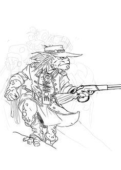 #JUEGOS #ROL #STEAMPUNK #CROWDFUNDING - Boceto de Alejandro Lizaur. Jernhest, juego de rol Aventuras en la Marca del Este en el que ciencia y tecnología se unen para crear un mundo de infinitas posibilidades. Vive con nosotros la Era del Vapor de Jernhest en todo su esplendor. Crowdfunding Verkami: http://www.verkami.com/projects/10277-jernhest-el-juego-de-rol-steampunk/