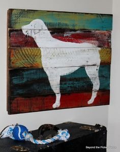 Puppy art at Beyond The Picket Fence