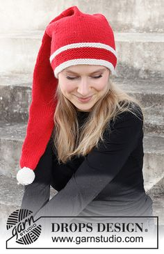Everybody Wants To Be An Elf / DROPS 214-69 - Gratis strikkeoppskrifter fra DROPS Design Christmas Knitting Patterns, Knitting Patterns Free, Free Knitting, Free Pattern, Crochet Patterns, Drops Design, Magazine Drops, Point Mousse, Textured Yarn