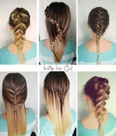 warkocze, warkocz holenderski, warkocz francuski, warkocz wodospad. Dutch braid, french braid, waterfall braid- braid ideas