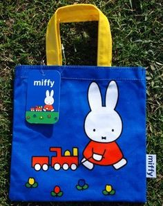 Miffy Small Blue Tote Bag #miffy #dickbruna