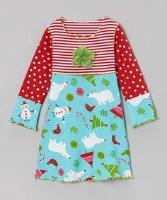Blue Polar Bear Crazy Dress