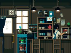 gif animation japan pixel art - beautifully captured daily life in Japan Pixel Art Gif, How To Pixel Art, Gravure Illustration, Illustration Art, Animation Pixel, Art Magazin, Arte 8 Bits, 8bit Art, Gif Animé