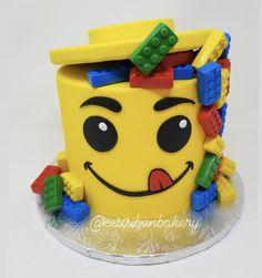 wedding style cake with a fondant lid and fondant decor with legos for added decor! Bite Size Cookies, Lego Cake, Salty Cake, Cake Tins, Banana Bread Recipes, Cake Mold, Savoury Cake, Cake Creations, Custom Cakes