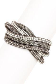 Crystal Wrap Bracelet by Stella + Ruby on @HauteLook