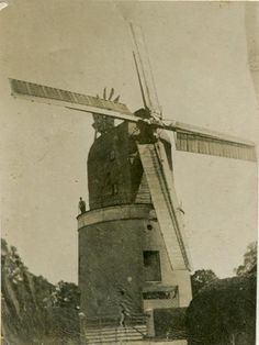 The Composite windmill at Little Laver in Essex in the early 1900s, a composite mil was essentially a post mill that didn't have a main post and trestle, instead revolving on a track or curb, like on a tower or smock Mill. This particular example was the last of its kind, being demolished in the early 1960s. REXW-ESS-48-01_141.jpg (450×599)