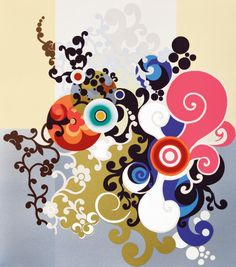 Beatriz Milhazes   Brazilian Kaleidoscope print pattern
