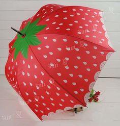 Strawberry Automatic umbrella Princess.Apollo umbrella Rain and shine   eBay
