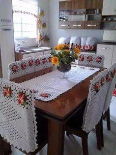 jogo de cozinha trilho mesa, capa cadeiras, capas diversas