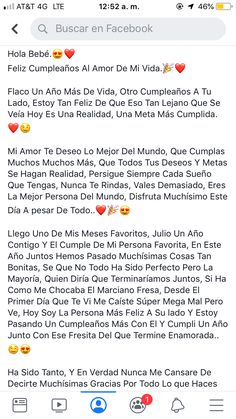 Cabellera Tutorial and Ideas Cute Relationship Texts, Cute Relationships, Love Phrases, Love Words, Amor Quotes, Love Quotes, Sad Love, Cute Love, Happy Birthday Text